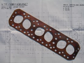 Solid Copper Cylinder Head Gaskets - N Type