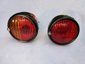 Original Lucas ST38 Style 'Pork Pie' Tail Lights